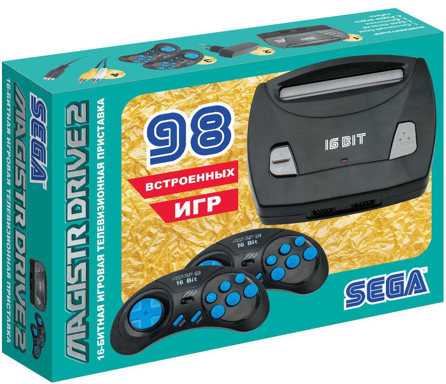 Игровая консоль MAGISTR Drive 2 Little 98 игр,  черный