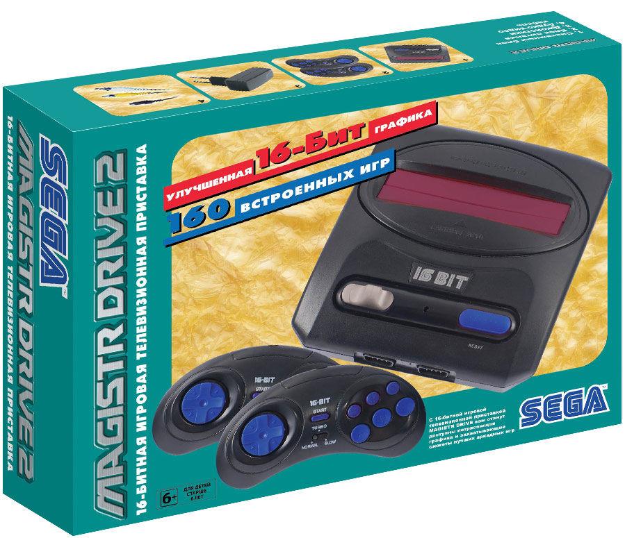 Игровая консоль MAGISTR Drive 2 Little 160 игр,  черный