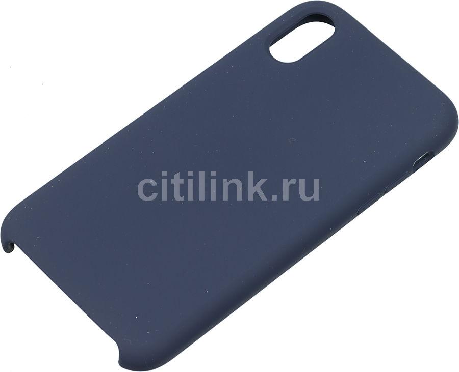 Чехол (клип-кейс)  Rubber, для Apple iPhone XR, синий [tfn-cc-07-010rubl]