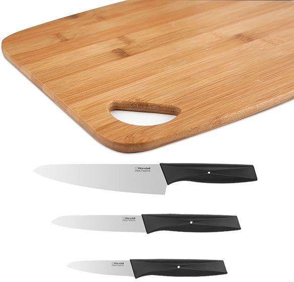 Набор ножей кухон. Rondell 0655-RD-01 черный