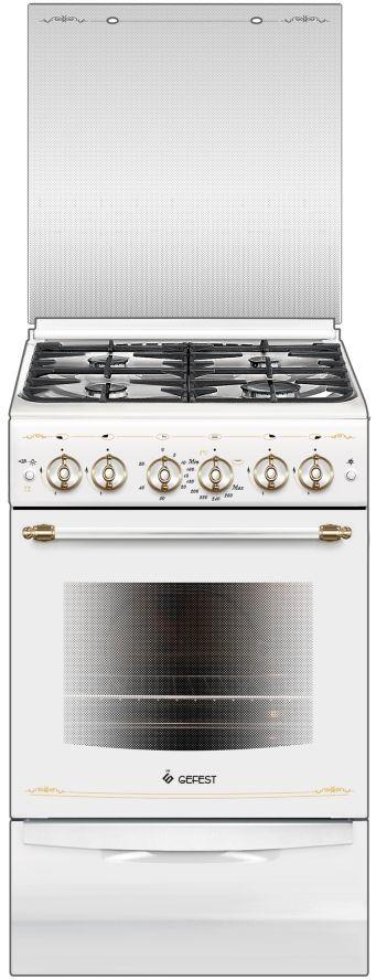 Газовая плита GEFEST ПГ 5100-02 0181,  газовая духовка,  белый