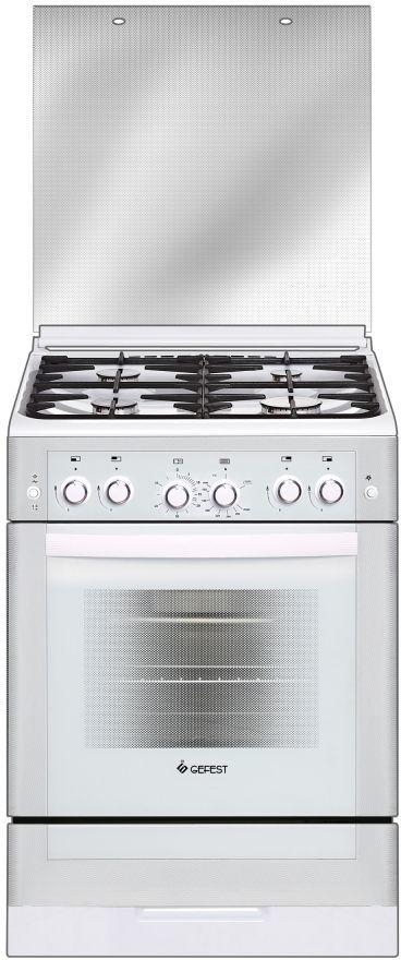 Газовая плита GEFEST ПГ 6300-02 0040,  газовая духовка,  белый