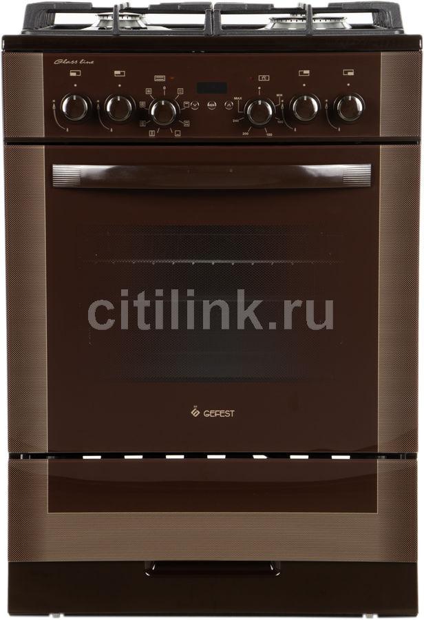 Газовая плита GEFEST ПГЭ 6502-03 0245,  электрическая духовка,  коричневый