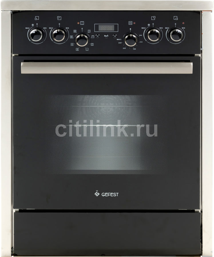 Электрическая плита GEFEST ПЭ 6760-03,  стеклокерамика,  без крышки,  черный/серебристый