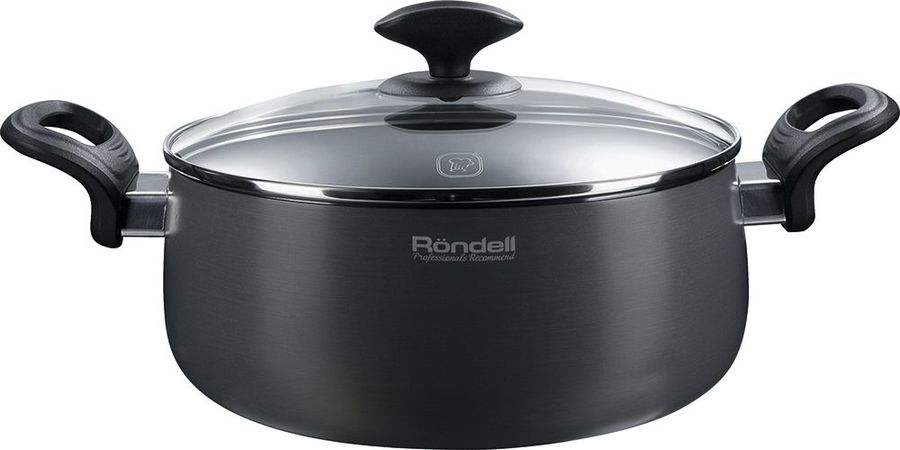 Кастрюля RONDELL Weller 0066-RD-01, 3.2л, с крышкой,  серый