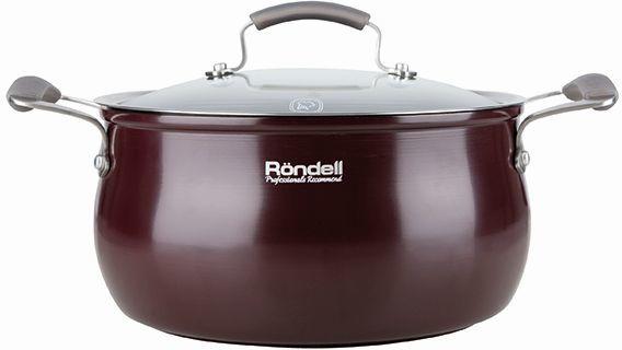 Кастрюля RONDELL Charm 0565-RD-01, 5.6л, с крышкой,  бордовый