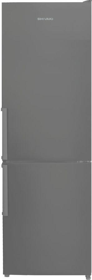 Холодильник SHIVAKI BMR-1852NFX,  двухкамерный, нержавеющая сталь