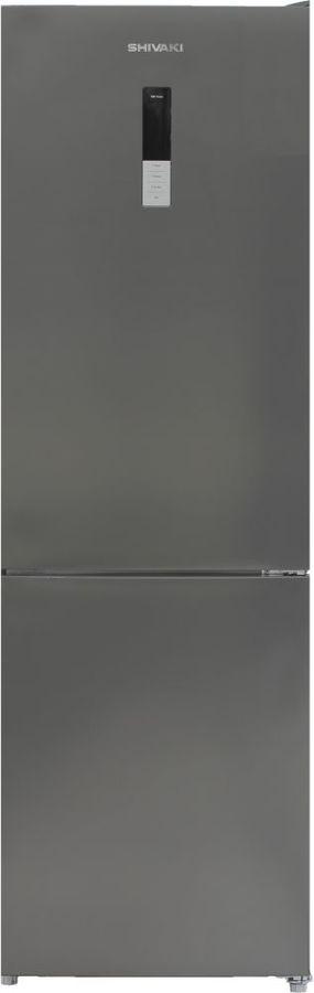 Холодильник SHIVAKI BMR-1852DNFX,  двухкамерный, нержавеющая сталь