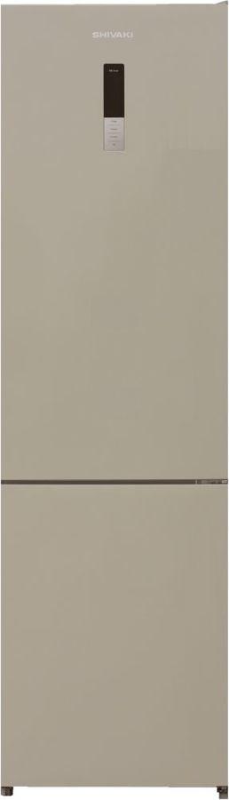 Холодильник SHIVAKI BMR-2019DNFBE,  двухкамерный, бежевый