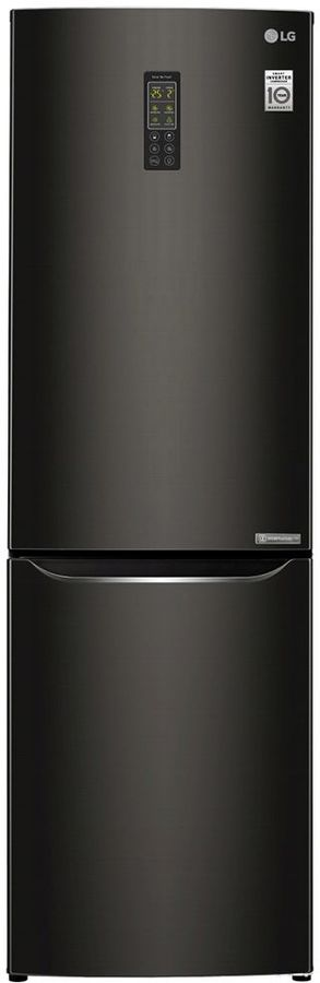 Холодильник LG GA-B419SBUL,  двухкамерный, черный