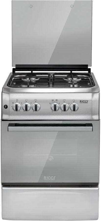 Газовая плита RICCI RGC5701IX,  газовая духовка,  нержавеющая сталь