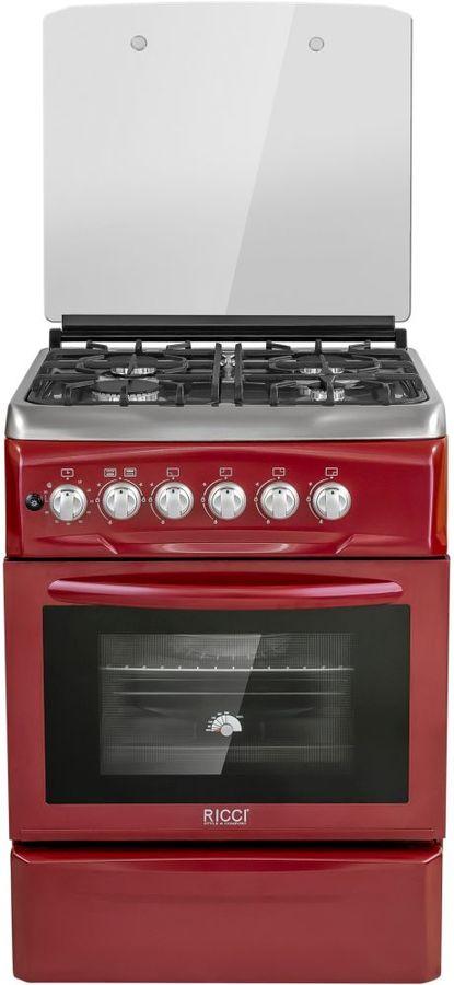 Газовая плита RICCI RGC 6040RD,  газовая духовка,  красный
