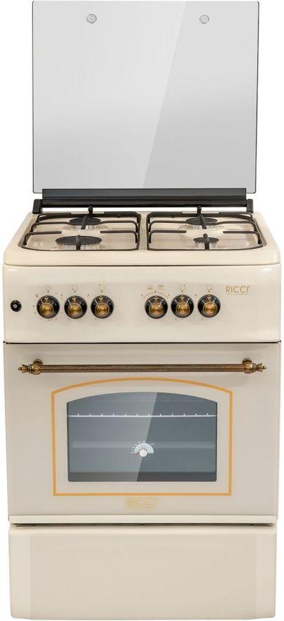 Газовая плита RICCI RGC5703BG,  газовая духовка,  бежевый