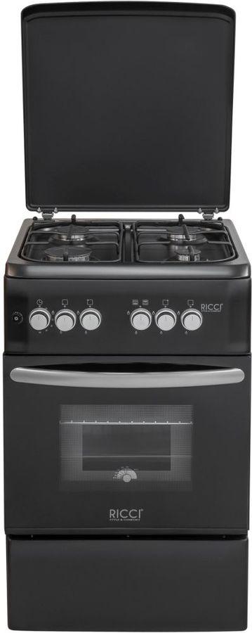Газовая плита RICCI RGC5002BL,  газовая духовка,  черный
