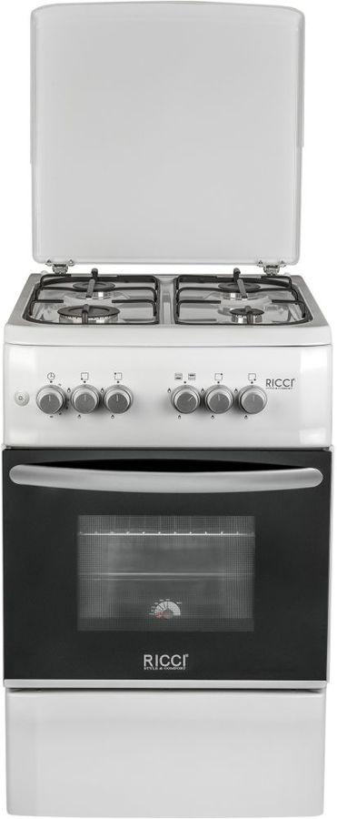 Газовая плита RICCI RGC5002WH,  газовая духовка,  белый