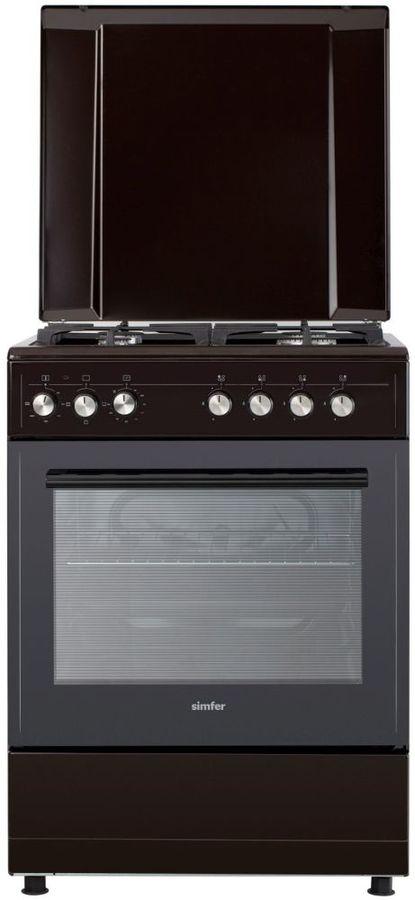 Газовая плита SIMFER F66ED43017,  электрическая духовка,  коричневый