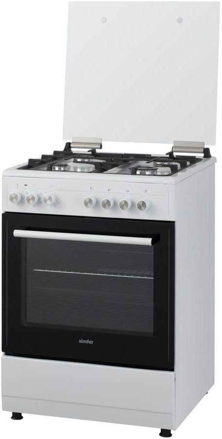 Газовая плита SIMFER F66EW45017,  электрическая духовка,  белый