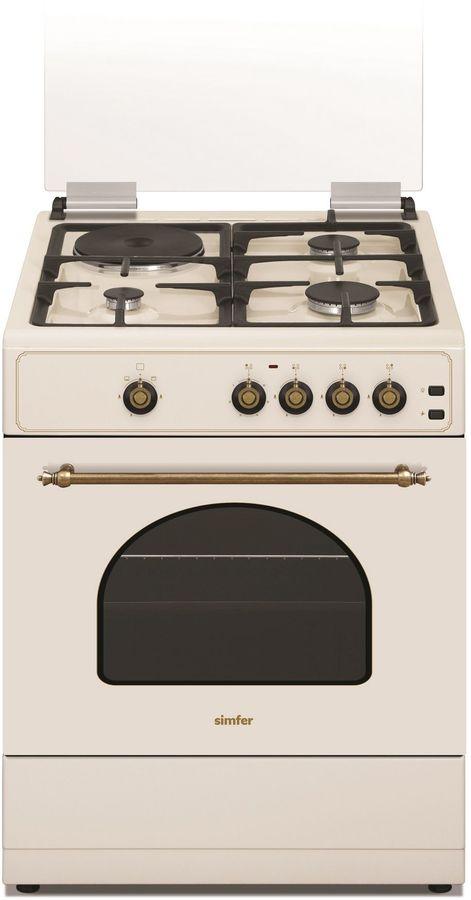 Газовая плита SIMFER F66GO32017,  газовая духовка,  бежевый