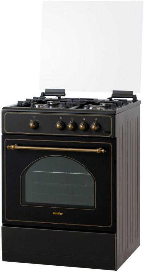 Газовая плита SIMFER F66GL42017,  газовая духовка,  черный графитовый