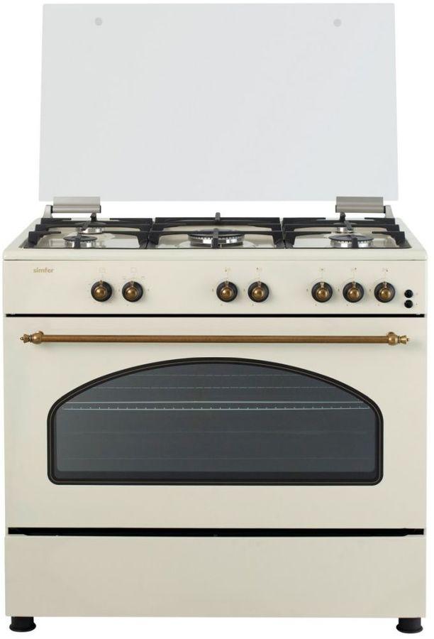 Газовая плита SIMFER F96GO52017,  газовая духовка,  бежевый