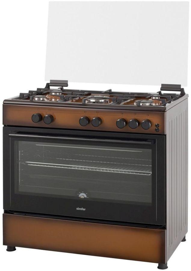 Газовая плита SIMFER F96GD52001,  газовая духовка,  коричневый