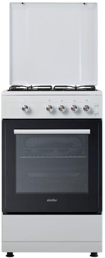Газовая плита SIMFER F55GW42017,  газовая духовка,  белый
