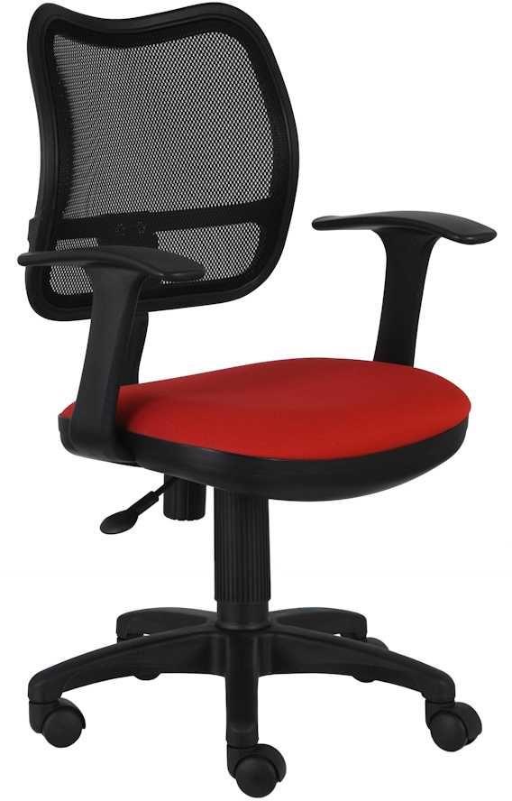 Кресло БЮРОКРАТ CH-797, на колесиках, ткань, черный/красный [ch-797/26-22]
