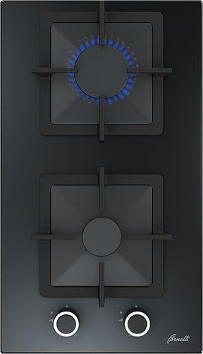 Варочная панель FORNELLI PGT 30 CALORE,  независимая,  черный