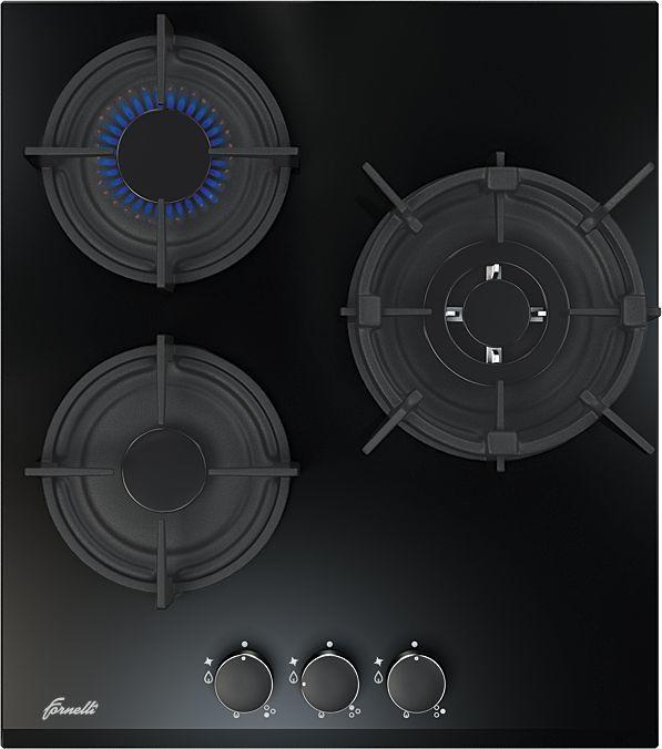 Варочная панель FORNELLI PGA 45 FIERO,  независимая,  черный