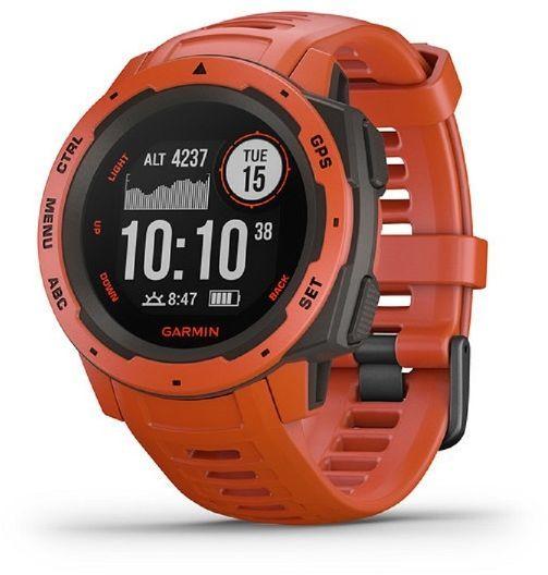 """Смарт-часы GARMIN Instinct Flame,  45мм,  0.9"""",  красный / красный [010-02064-02]"""