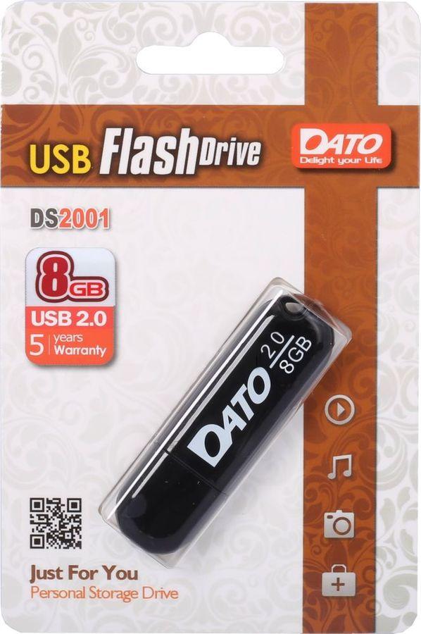 Флешка USB DATO DS2001 8Гб, USB2.0, черный [ds2001-08g]