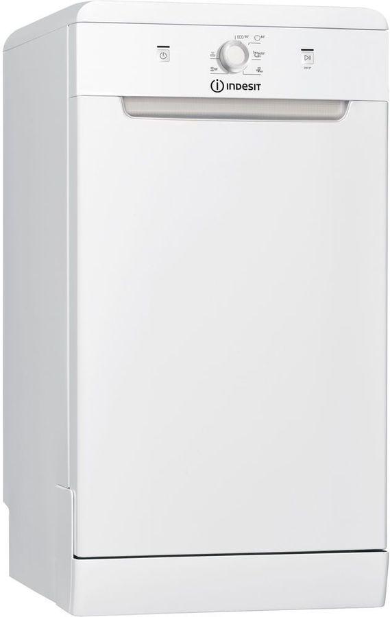 Посудомоечная машина INDESIT DSCFE 1B10 RU,  узкая, белая [155501]