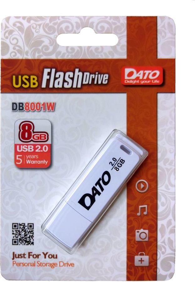 Флешка USB DATO DB8001 8Гб, USB2.0, белый [db8001w-08g]