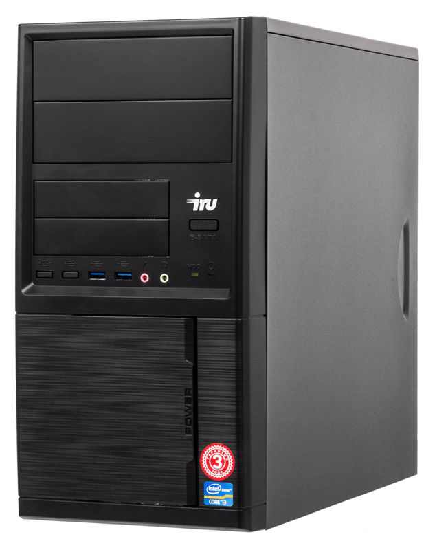 Компьютер  IRU Office 315,  Intel  Core i3  8100,  DDR4 4Гб, 120Гб(SSD),  Intel UHD Graphics 630,  Free DOS,  черный [1119785]