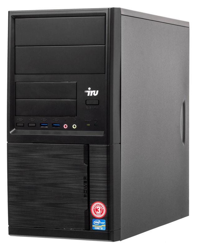 Компьютер  IRU Office 313,  Intel  Core i3  8100,  DDR4 4Гб, 240Гб(SSD),  Intel UHD Graphics 630,  Windows 10 Professional,  черный [1119788]