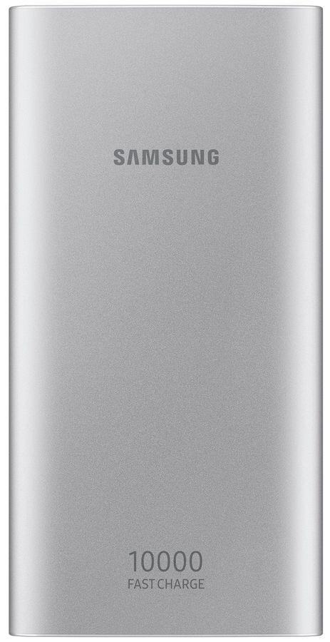 Внешний аккумулятор (Power Bank) SAMSUNG EB-P1100BSRGRU,  10000мAч,  серебристый