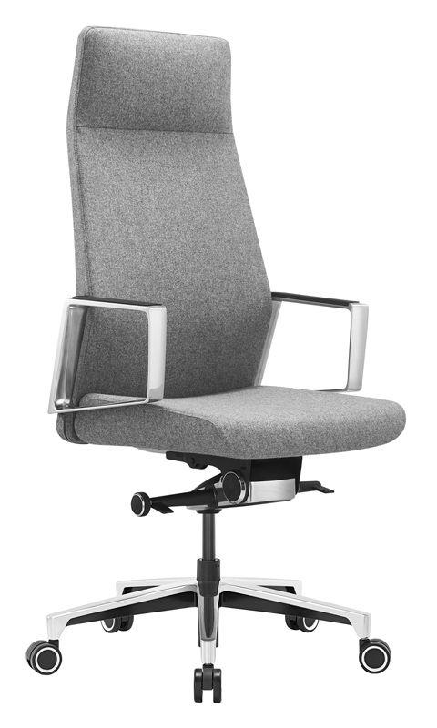 Кресло руководителя БЮРОКРАТ _JONS, на колесиках, ткань [_jons/cashgrey]