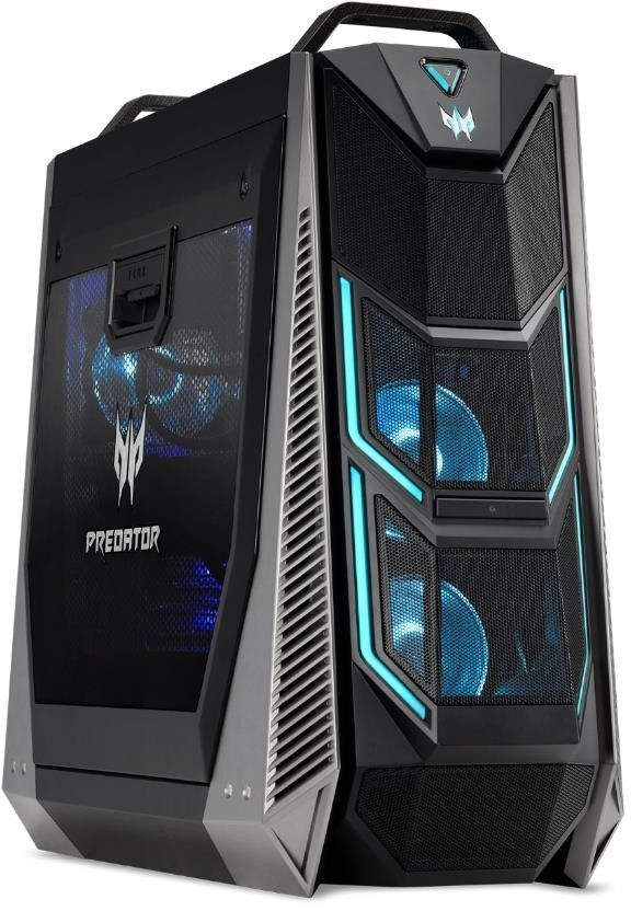 Компьютер  ACER Predator PO9-900,  Intel  Core i9  9900X,  DDR4 64Гб, 2.9Тб,  512Гб(SSD),  2 х NVIDIA GeForce RTX 2080Ti - 11264 Мб,  DVD-RW,  Windows 10 Home,  черный [dg.e0per.013]