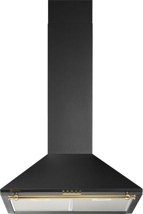 Вытяжка каминная Electrolux EFC60441OR черный/золотистый управление: кнопочное (1 мотор)