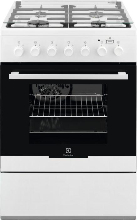 Газовая плита ELECTROLUX EKK961900W,  электрическая духовка,  белый
