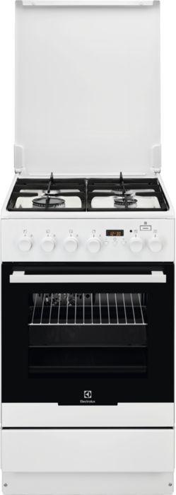 Газовая плита ELECTROLUX EKK954904W,  электрическая духовка,  белый