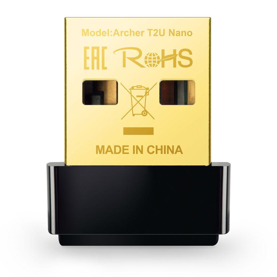 Сетевой адаптер WiFi TP-LINK Archer T2U NANO USB 2.0