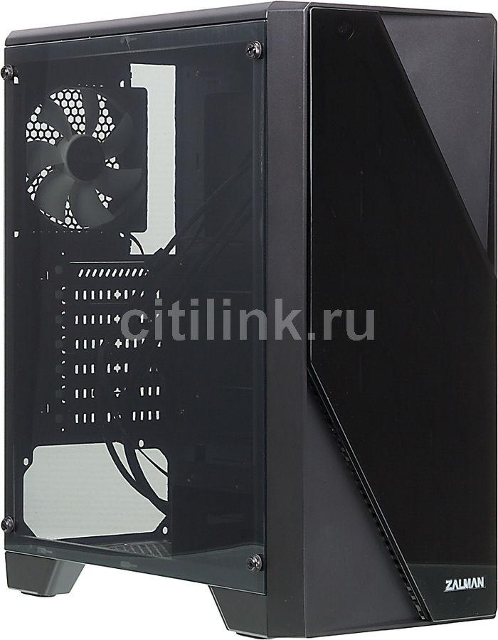 Корпус ATX ZALMAN S1, Midi-Tower, без БП,  черный