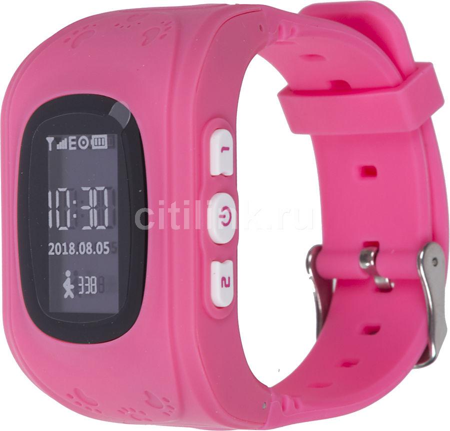 "Смарт-часы JET Kid Start,  54мм,  0.64"",  черный / розовый [start pink]"