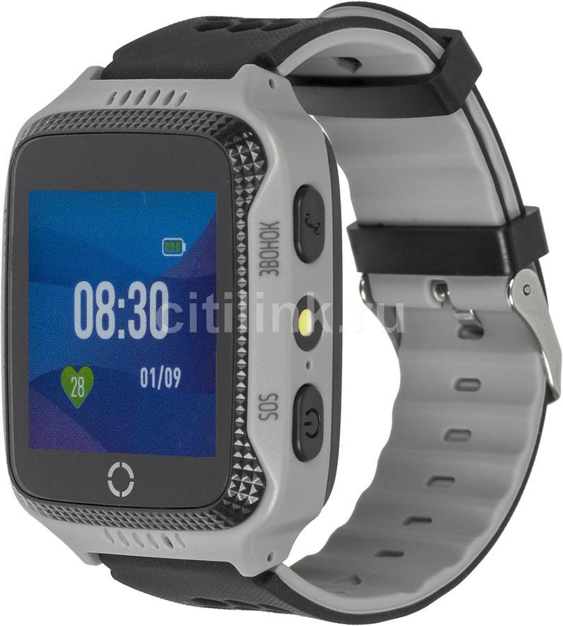 """Смарт-часы JET Kid Scout,  45мм,  1.44"""",  серый / черный [scout grey+black]"""