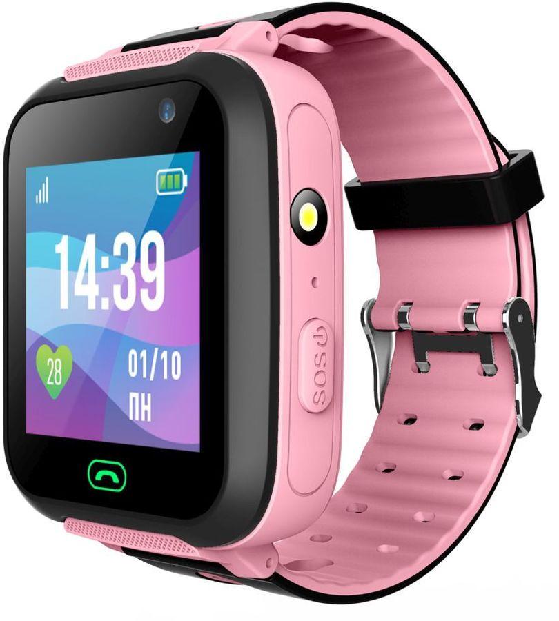 """Смарт-часы JET Kid Swimmer,  45мм,  1.44"""",  розовый / розовый [swimmer pink]"""