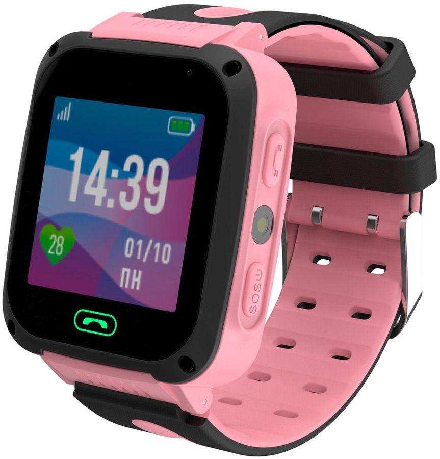 "Смарт-часы JET Kid Connect,  45мм,  1.44"",  черный / розовый [connect pink]"