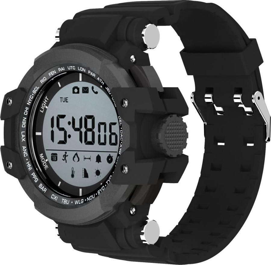 """Смарт-часы JET Sport SW3,  1.2"""",  серый / черный [sw3 black]"""