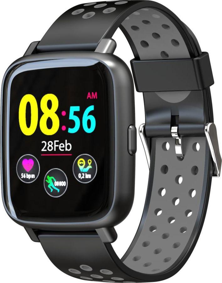 "Смарт-часы JET Sport SW-5,  52мм,  1.44"",  черный / серый [sw-5 grey]"