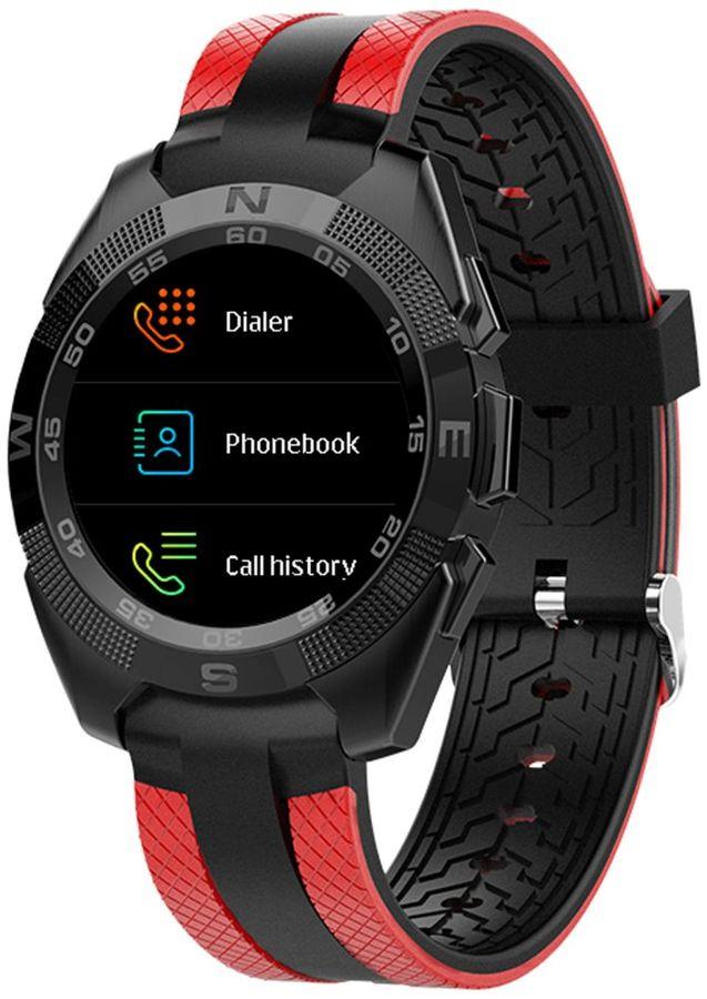"""Смарт-часы JET Sport SW-7,  55мм,  1.54"""",  красный / красный [sw-7 red]"""
